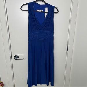 Evan-Picone dark blue shiny slinky dress